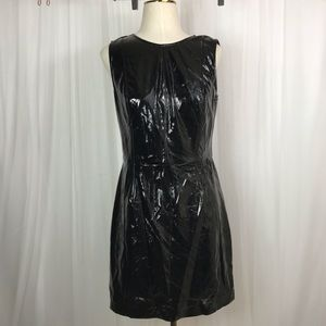 1. State Patent Leather Sleeveless Dress